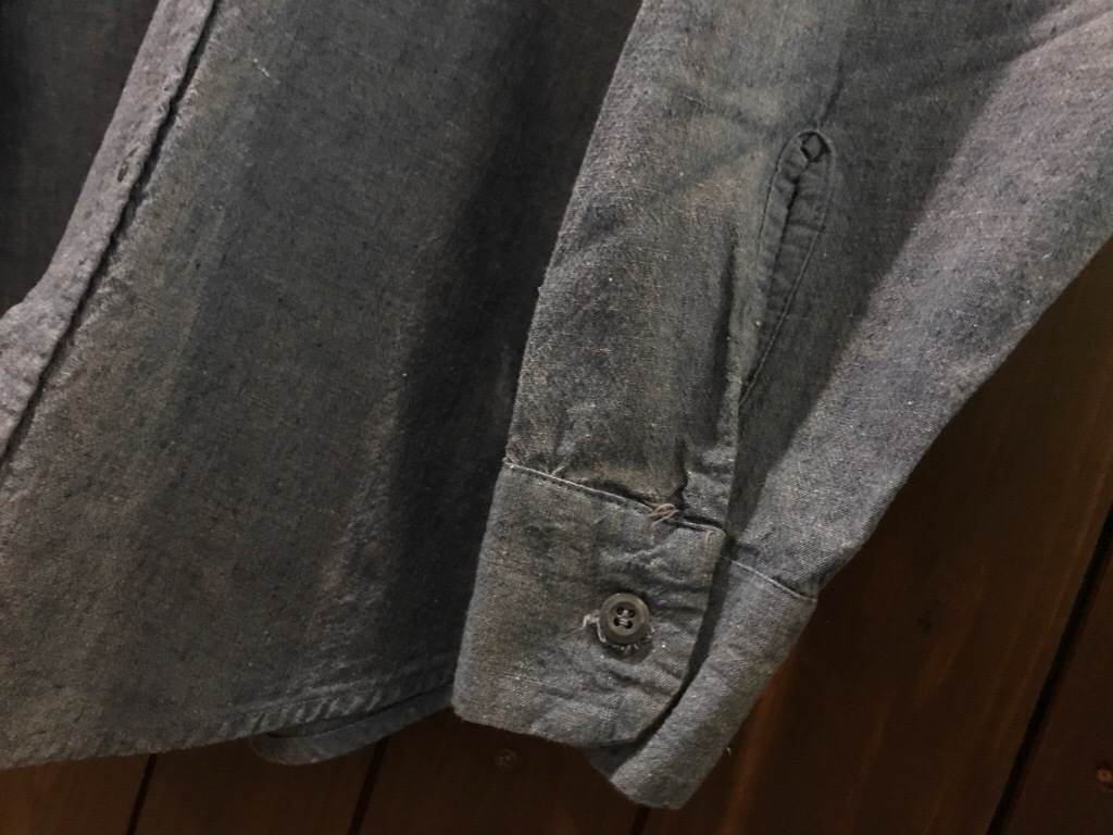 神戸店5/24(水)ヴィンテージウェア&スニーカー入荷!#6  Work Item Part2! Black&Blue Chambray Shirt!!!_c0078587_16003936.jpg