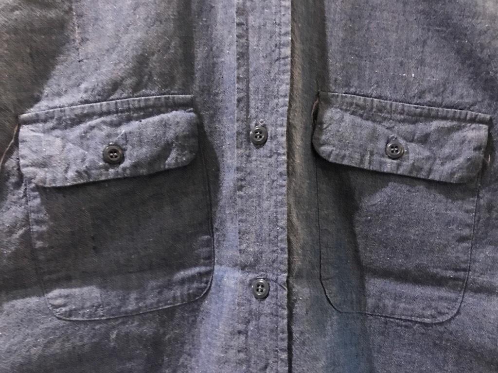 神戸店5/24(水)ヴィンテージウェア&スニーカー入荷!#6  Work Item Part2! Black&Blue Chambray Shirt!!!_c0078587_16003951.jpg