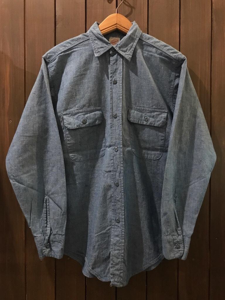 神戸店5/24(水)ヴィンテージウェア&スニーカー入荷!#6  Work Item Part2! Black&Blue Chambray Shirt!!!_c0078587_16004063.jpg