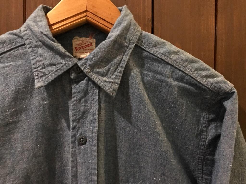 神戸店5/24(水)ヴィンテージウェア&スニーカー入荷!#6  Work Item Part2! Black&Blue Chambray Shirt!!!_c0078587_16004083.jpg