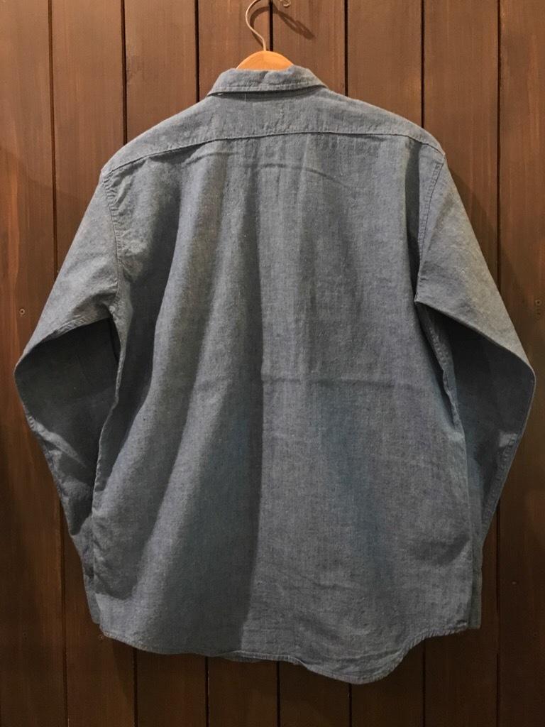 神戸店5/24(水)ヴィンテージウェア&スニーカー入荷!#6  Work Item Part2! Black&Blue Chambray Shirt!!!_c0078587_16004153.jpg