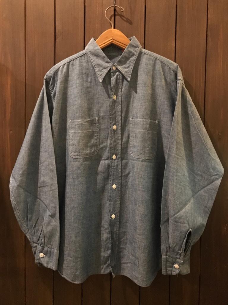 神戸店5/24(水)ヴィンテージウェア&スニーカー入荷!#6  Work Item Part2! Black&Blue Chambray Shirt!!!_c0078587_16022107.jpg