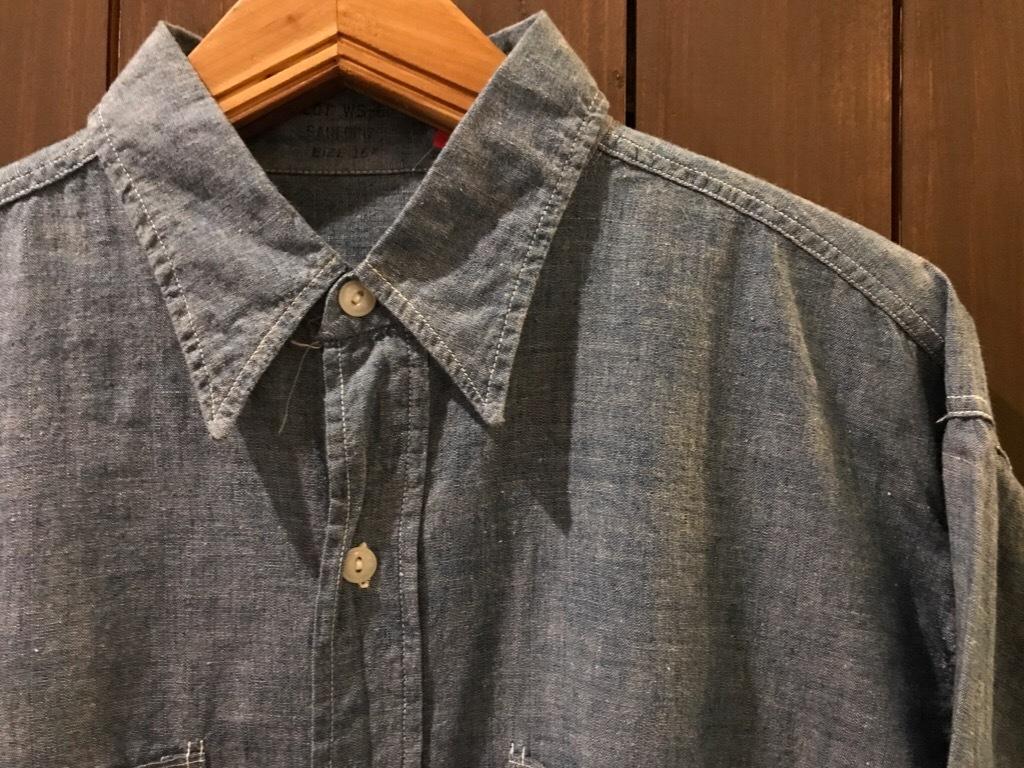 神戸店5/24(水)ヴィンテージウェア&スニーカー入荷!#6  Work Item Part2! Black&Blue Chambray Shirt!!!_c0078587_16022128.jpg