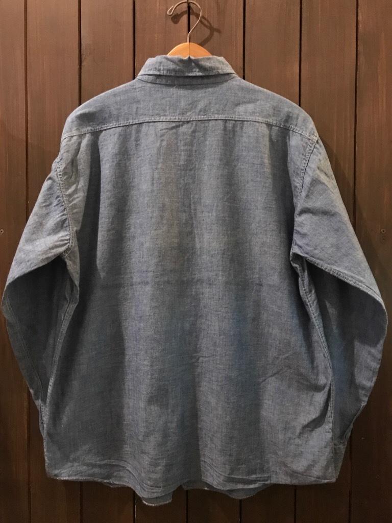 神戸店5/24(水)ヴィンテージウェア&スニーカー入荷!#6  Work Item Part2! Black&Blue Chambray Shirt!!!_c0078587_16022208.jpg
