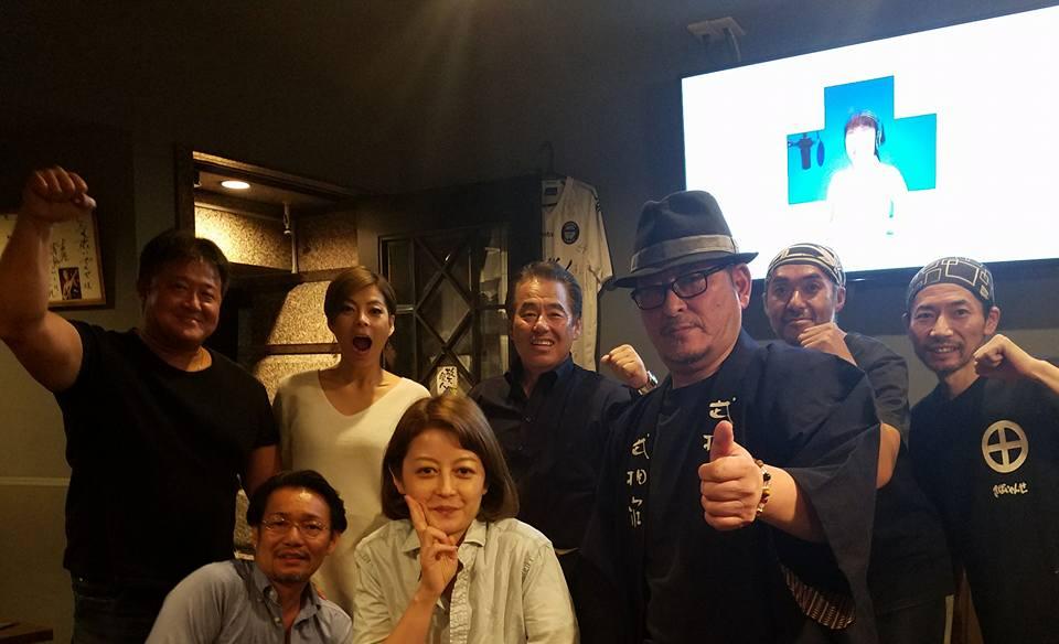 昨日の「井手麻理子20周年ディナーショー」の打ち上げを南青山のきばいやんせで開催。_c0186691_15395292.jpg
