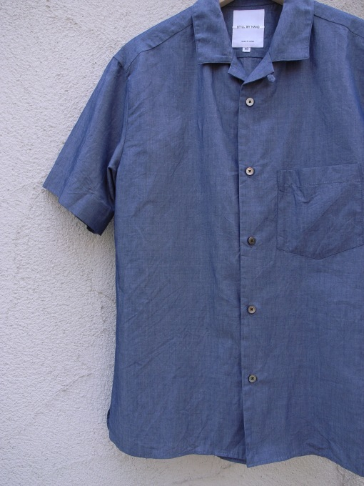 STILL BY HAND コットン/リネン S/Sシャツ_d0334060_15120829.jpg