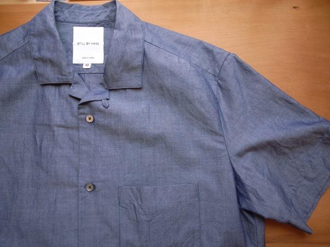 STILL BY HAND コットン/リネン S/Sシャツ_d0334060_15121243.jpg