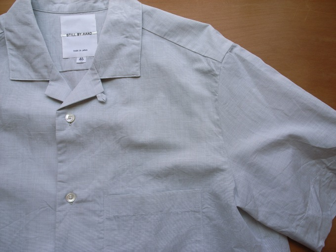 STILL BY HAND コットン/リネン S/Sシャツ_d0334060_15121599.jpg
