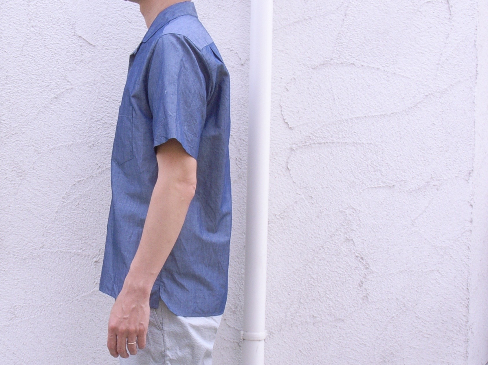 STILL BY HAND コットン/リネン S/Sシャツ_d0334060_15121914.jpg