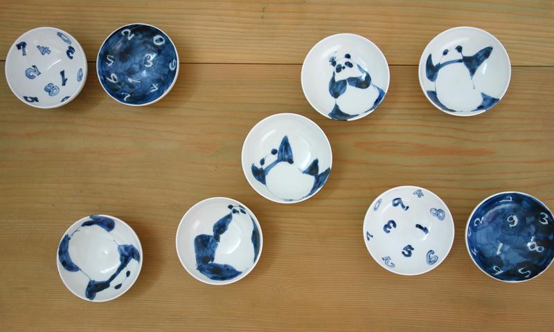 """【亀山サ苗展】いつものテーブルに""""夏の藍""""で季節を先取り!_a0017350_01561739.jpg"""