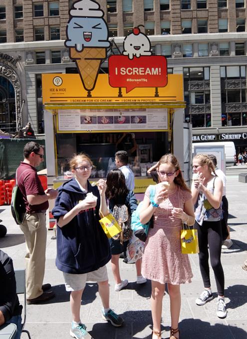 NYに政治・社会問題を訴えるアイスクリーム屋さん登場!? I Scream!_b0007805_2284813.jpg