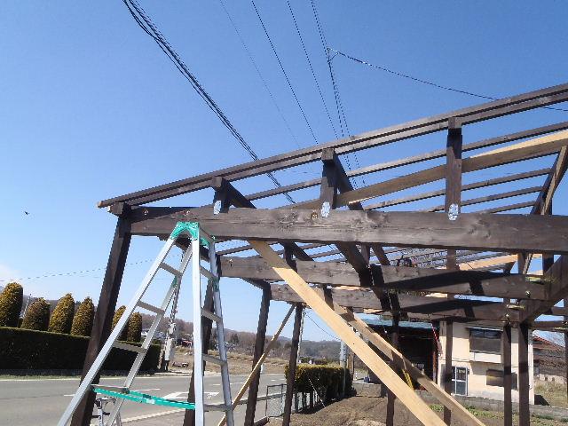 木造ガレージを造る  続き_f0105112_4235095.jpg