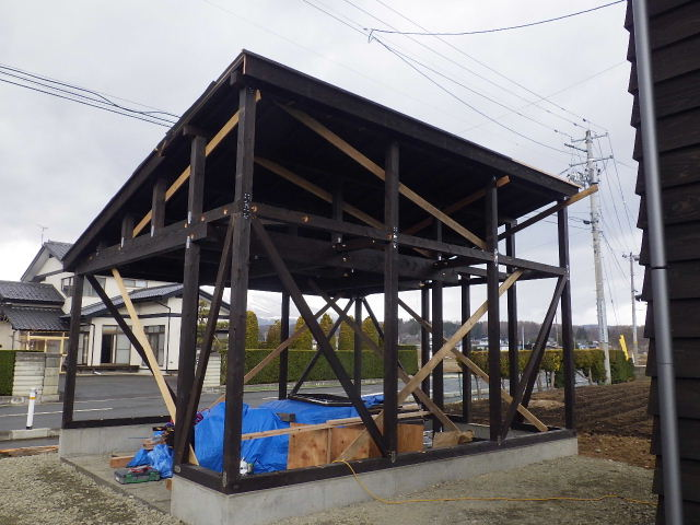 木造ガレージを造る  続き_f0105112_4244922.jpg