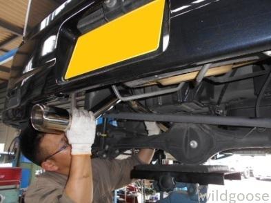 DA64W エブリイワゴン 車検整備+ダウンサス・マフラー取付(*^o^*)_c0213517_11424022.jpg