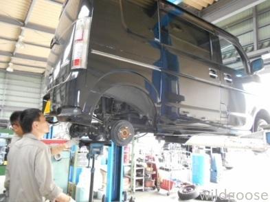 DA64W エブリイワゴン 車検整備+ダウンサス・マフラー取付(*^o^*)_c0213517_11424344.jpg