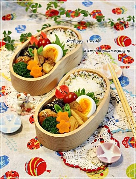椎茸つくねの照焼き弁当とバラ・アイスバーグ♪_f0348032_18021657.jpg