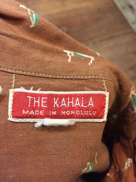 5月27日(土)入荷! 50s THE KAHALA  Hawaiian shirts ハワイアンシャツ!_c0144020_16260168.jpg