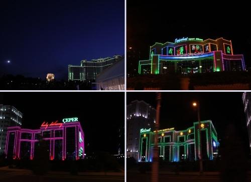 トルクメニスタンの旅(13) アシハバードの夜景と夕食とホテル_c0011649_12142570.jpg