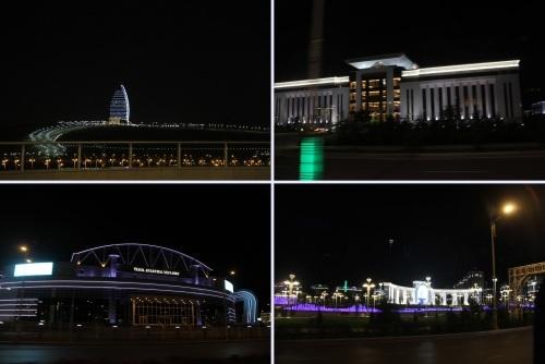トルクメニスタンの旅(13) アシハバードの夜景と夕食とホテル_c0011649_12161223.jpg