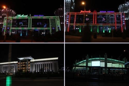 トルクメニスタンの旅(13) アシハバードの夜景と夕食とホテル_c0011649_23231758.jpg