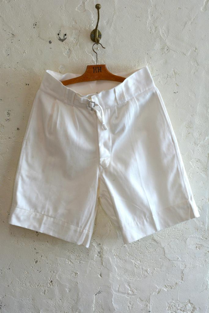 Italian navy chino shorts white (gurkha shorts) DEAD STOCK_f0226051_14254190.jpg