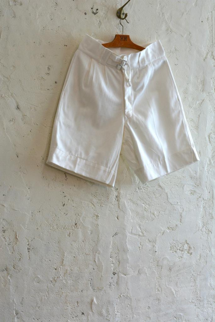 Italian navy chino shorts white (gurkha shorts) DEAD STOCK_f0226051_14254524.jpg