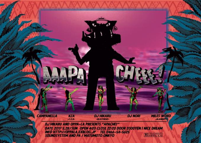 DJ 光 & OPPA-LAが贈るthe party Apache!5/28日 サンセットで開催❗️         _d0106911_02323325.jpg