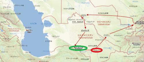 トルクメニスタンの旅(14) アシハバードからマリィへ_c0011649_07311514.png