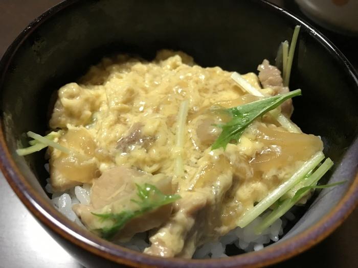 今日のミニ親子丼(今日交換した iPhone 7 Plus で撮影)_c0110051_23505724.jpg