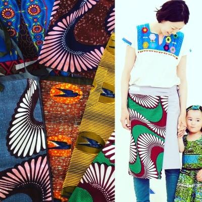 アフリカンプリントのラップスカート☆_b0207873_18030812.jpg
