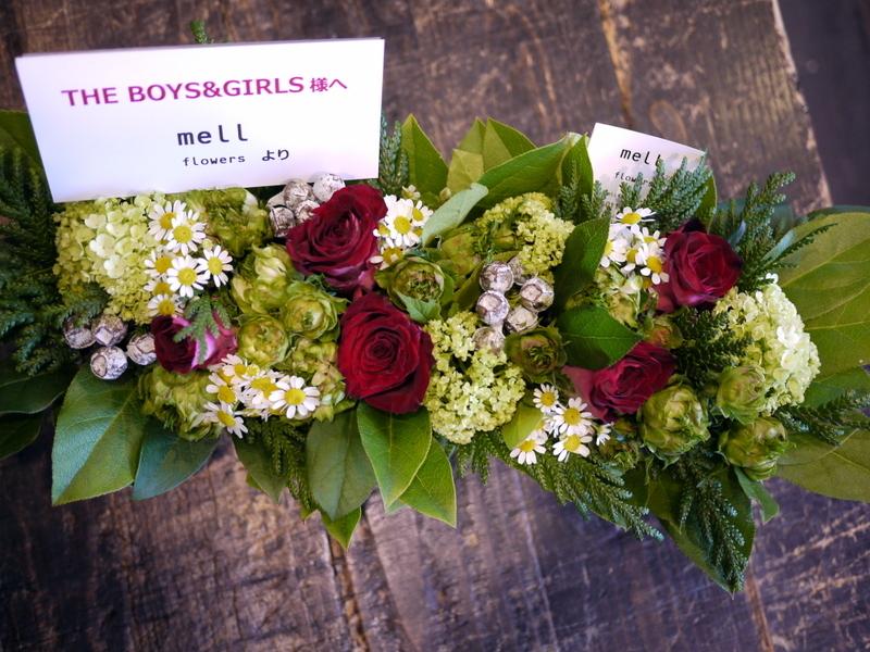 拝啓 THE BOYS&GIRLS様へ meLL flowersより。cube gardenにお届け。2017/05/24。_b0171193_16500298.jpg