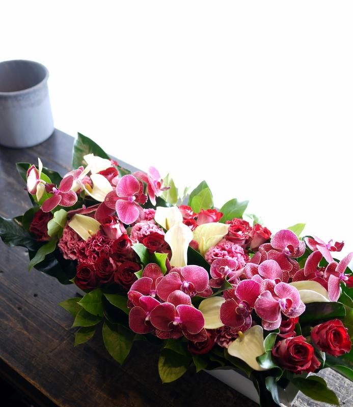 お母様の喜寿のお祝いに。「ド派手な感じに」。長野県松本市に発送。2017/05/27着。_b0171193_17182044.jpg