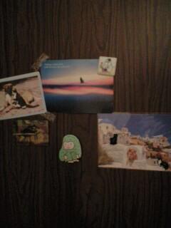 いただいたポストカードを プレゼントのマグネットで飾ってます♪_d0141735_2051166.jpg