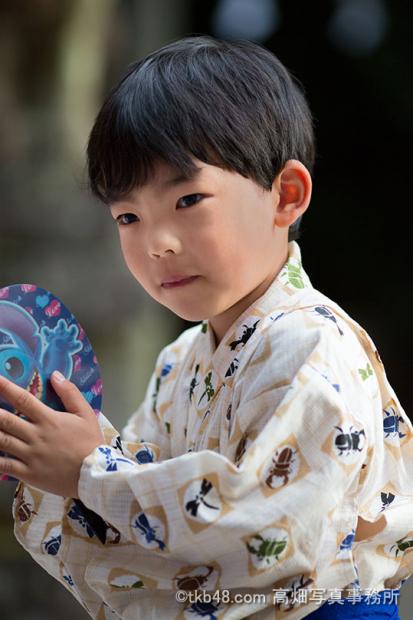 A child in festival. 夏祭りの子供_e0245846_19222845.png
