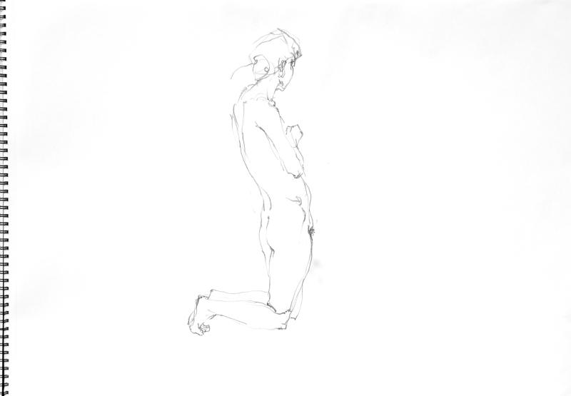 《 裸婦線描鉛筆 3 》_f0159856_06571631.jpg