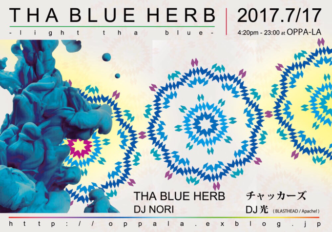 今年結成20周年を迎えるTHA BLUE HERBが7月17日 月曜祝日にチャッカーズとツーマンで💭💭_d0106911_12322818.jpg