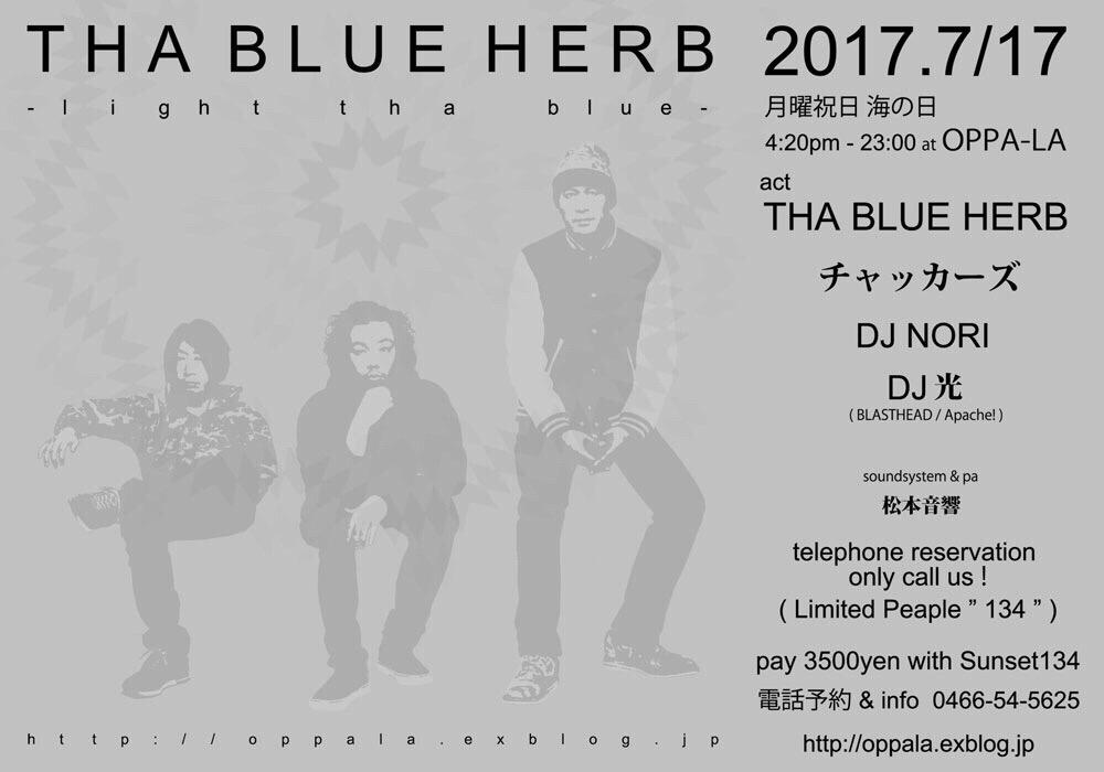 今年結成20周年を迎えるTHA BLUE HERBが7月17日 月曜祝日にチャッカーズとツーマンで💭💭_d0106911_12322958.jpg