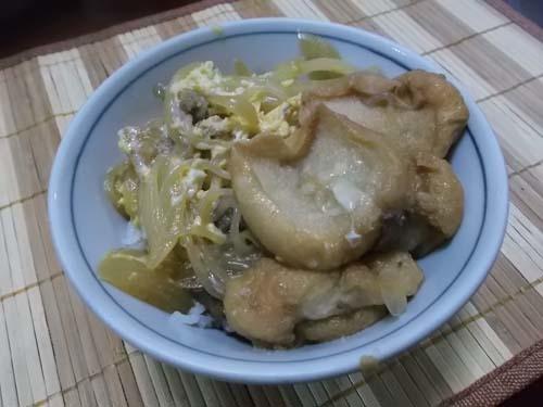 油麩丼(あぶらふどん)&自家製白菜キムチ_f0019498_21154471.jpg