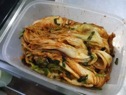 油麩丼(あぶらふどん)&自家製白菜キムチ_f0019498_21160822.jpg