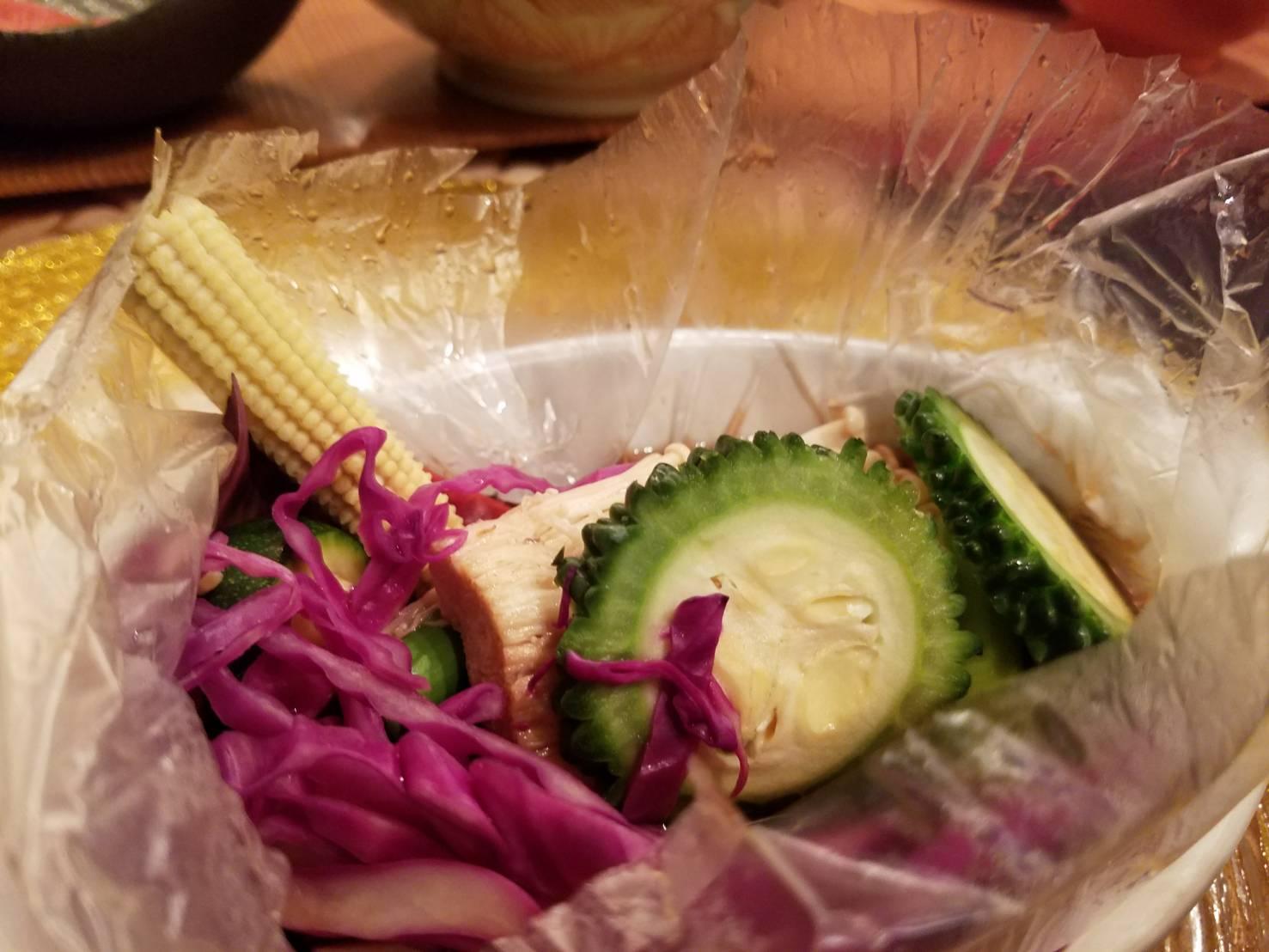 新作タジン風小海老と彩り野菜のサラダ_a0019032_1922059.jpg