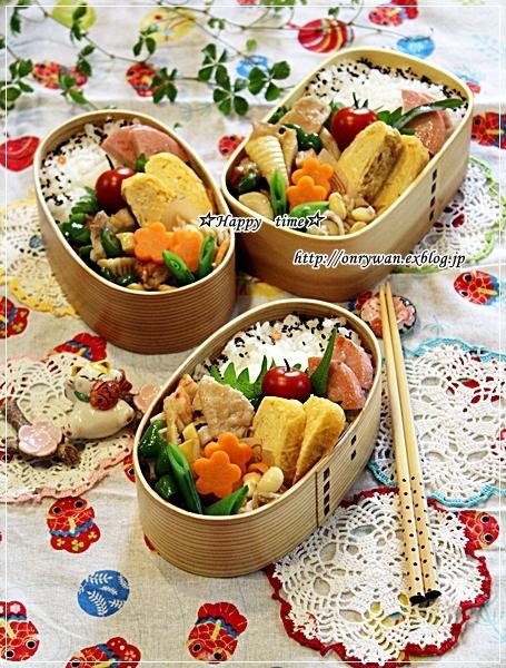 ハチク豚肉ピーマンの甘辛炒め弁当と今夜は生姜焼き♪_f0348032_18104148.jpg