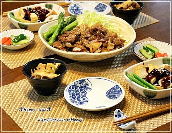 ハチク豚肉ピーマンの甘辛炒め弁当と今夜は生姜焼き♪_f0348032_18110695.jpg