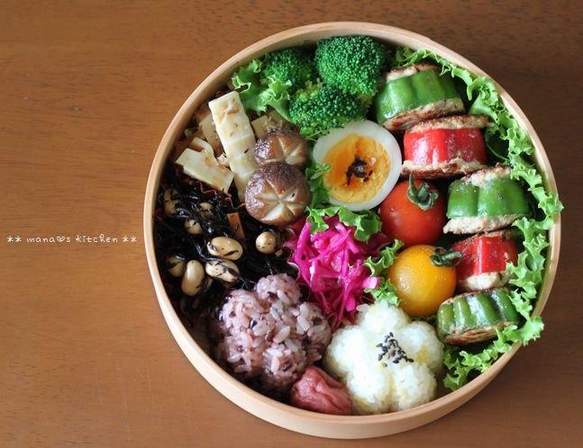 スタッフド・ピーマン&常備菜いろいろ(๑¯﹃¯๑)♪_c0139375_10332252.jpg
