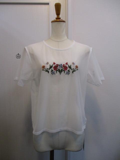 リリーブラウン Lily Brown フラワー刺繍カットトップス_e0076692_19320052.jpg