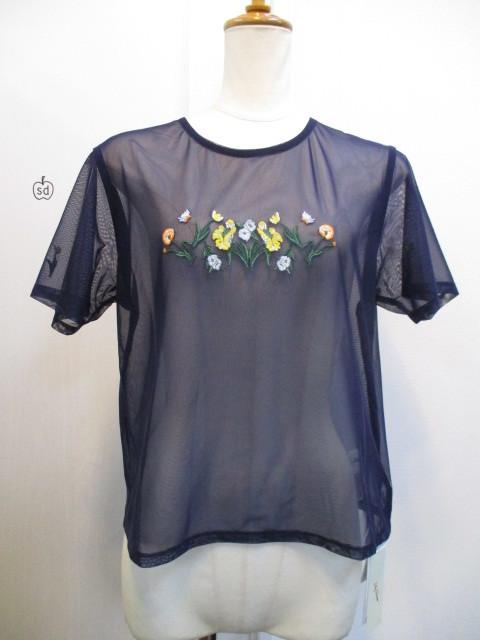 リリーブラウン Lily Brown フラワー刺繍カットトップス_e0076692_19344778.jpg