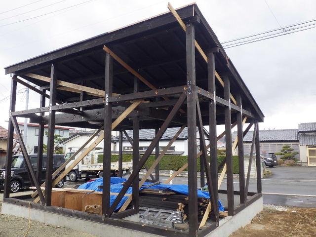 木造ガレージを造る  続き _f0105112_4282328.jpg