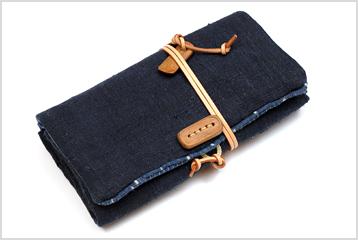 148番 南部麻の長財布 ~お気に入りの布~_d0221430_22333655.jpg