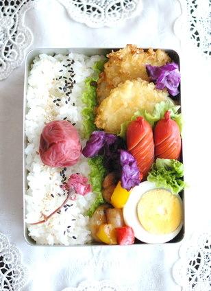 今日の白身魚フライ弁当とお弁当作りのコツ_d0327373_07202075.jpg