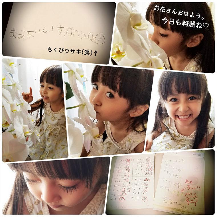 「お花さんおはよう。今日も、綺麗ね♡」算数や文字、そして色んなお勉強。_d0224894_12522670.jpg