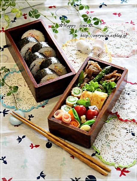 海苔巻き弁当とカツオのたたきでおうち居酒屋♪_f0348032_18024250.jpg
